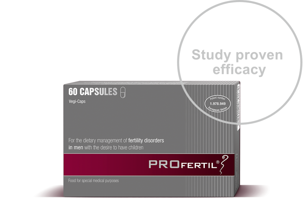 PROFERTIL® is the only tested and patented product that contributes to the optimization of sperm quality, offering an effective approach to male inferility. Extensive clinical studies have confirmed the effectiveness of the specific formula used in PROFERTIL®.