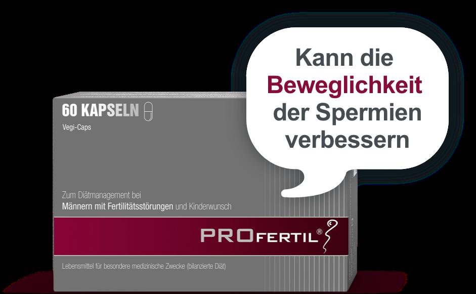In mehreren Studien konnte nach der mindestens 3-monatigen Einnahme von PROfertil® eine Verbesserung aller für die Fruchtbarkeit relevanten Spermien-Parameter gezeigt werden (u.a. Spermienanzahl und Ejakulatvolumen).