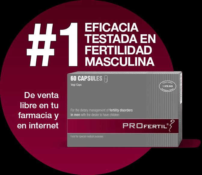 N. º 1 EFICACIA TESTADA EN FERTILIDAD MASCULINA